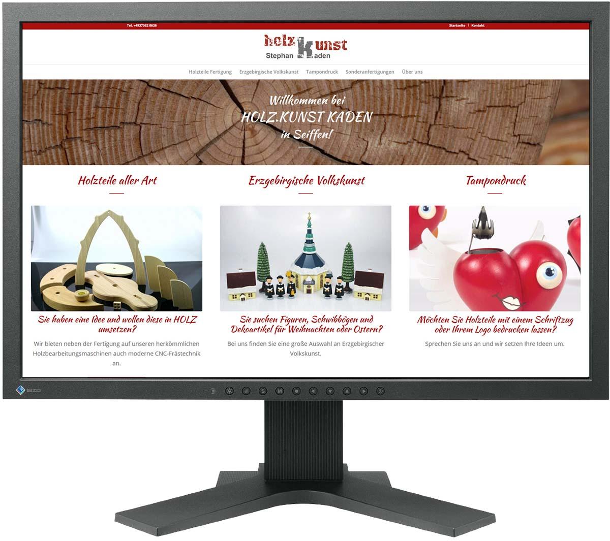 Website für Holzkunst Kaden