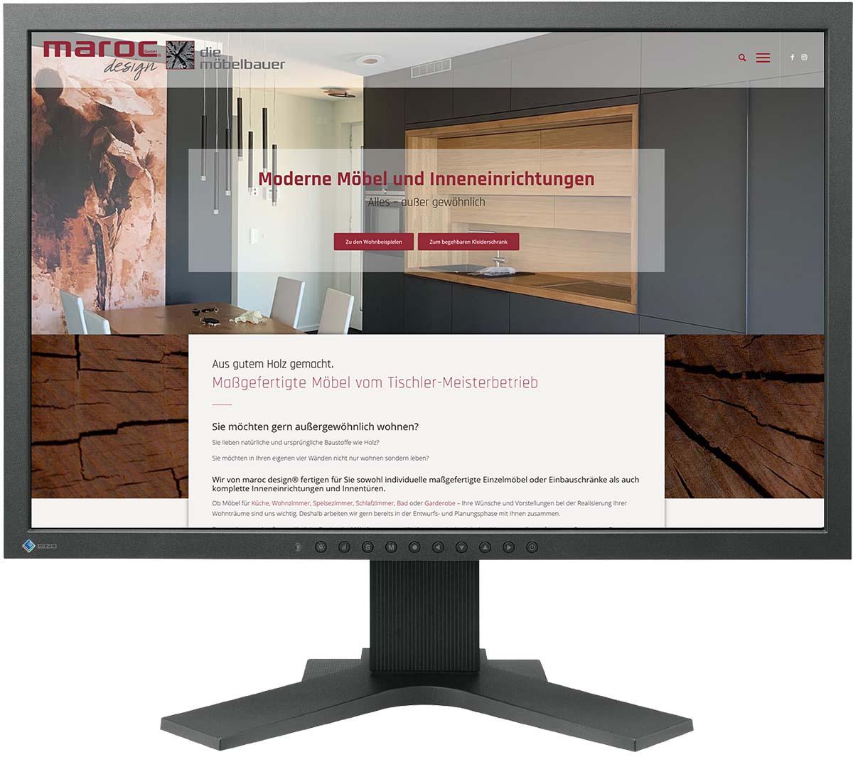 Website für marocdesign GmbH Inneneinrichtungen