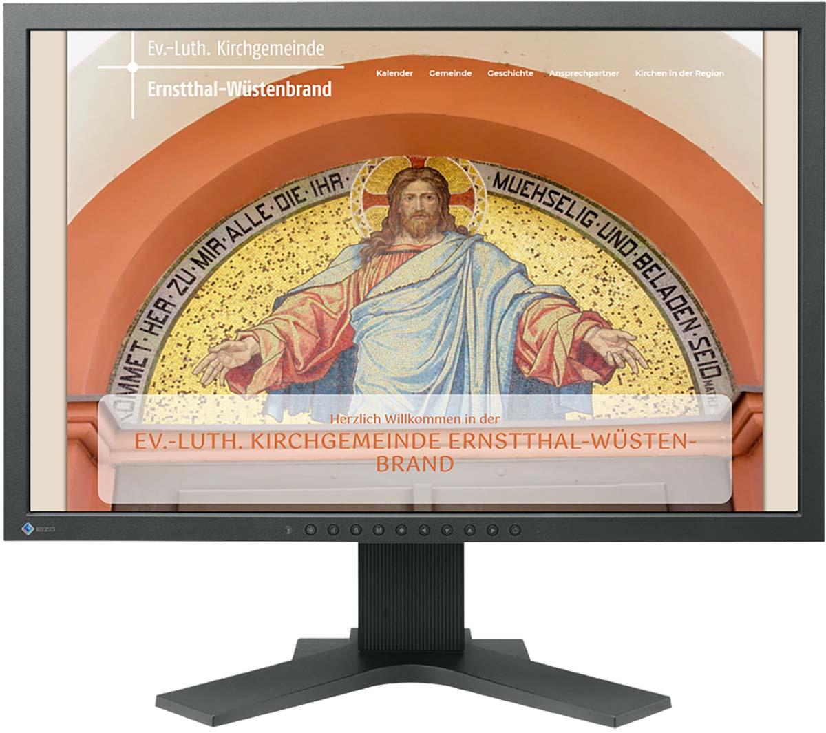 Website für Kirchgemeinde Ernstthal-Wuestenbrand