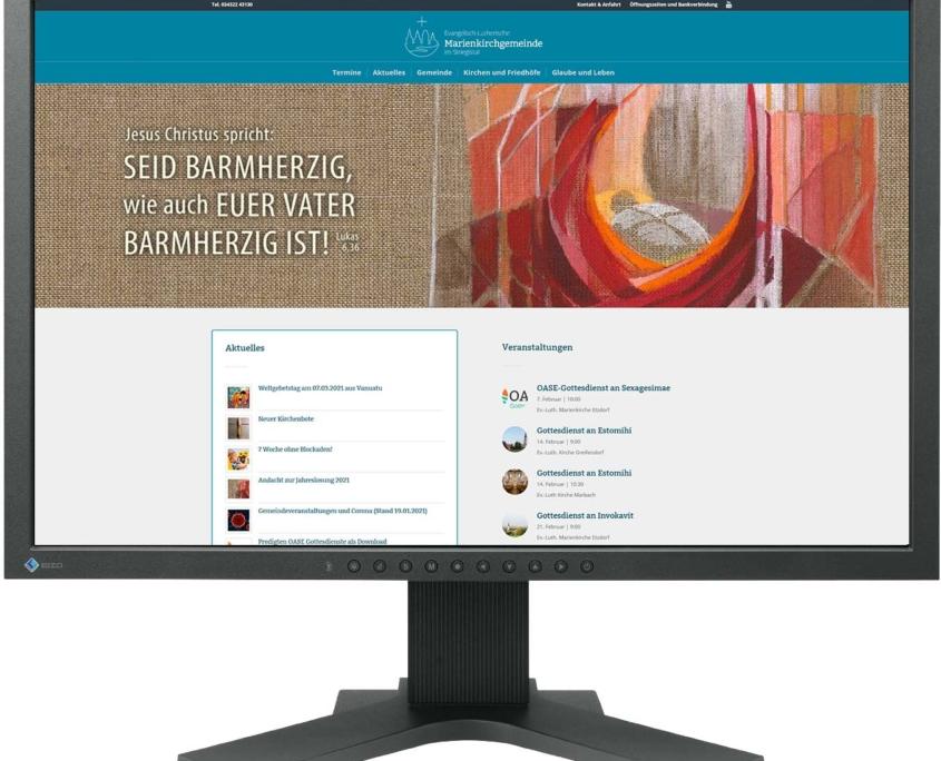Website Marienkirchgemeinde, www.marienkirchgemeinde.de