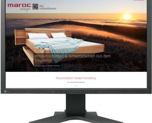 Website für marocdesign GmbH Massivholzbetten