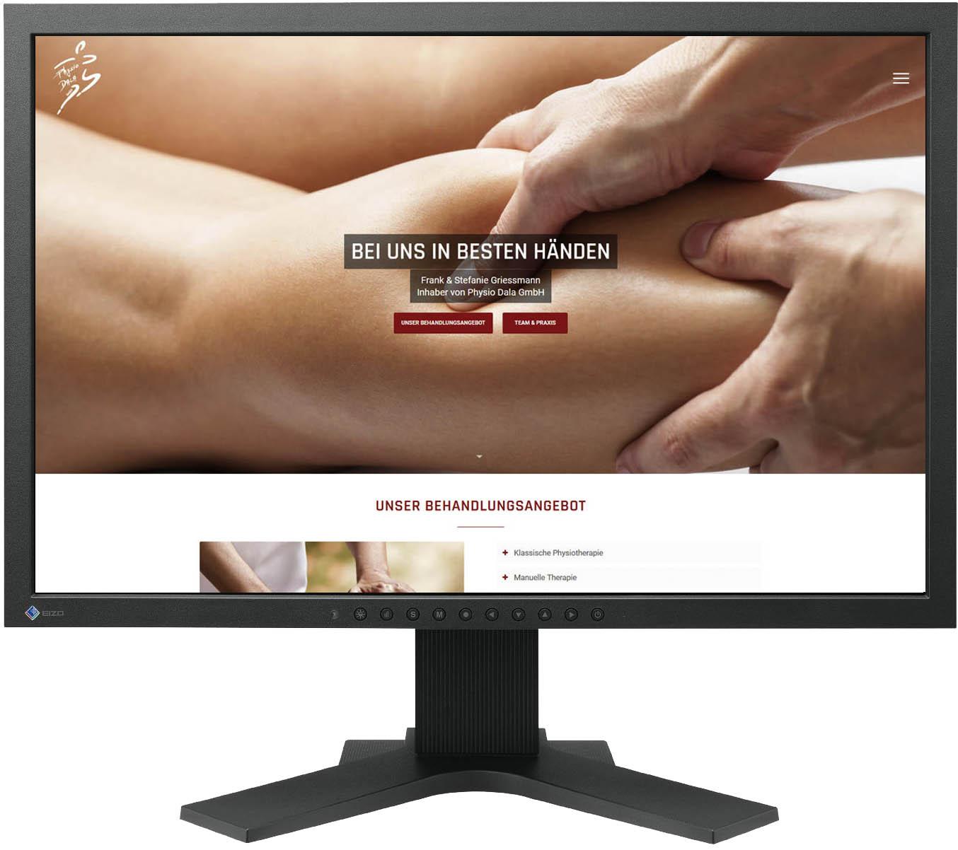 Website für Physiodala Leuk (Schweiz)