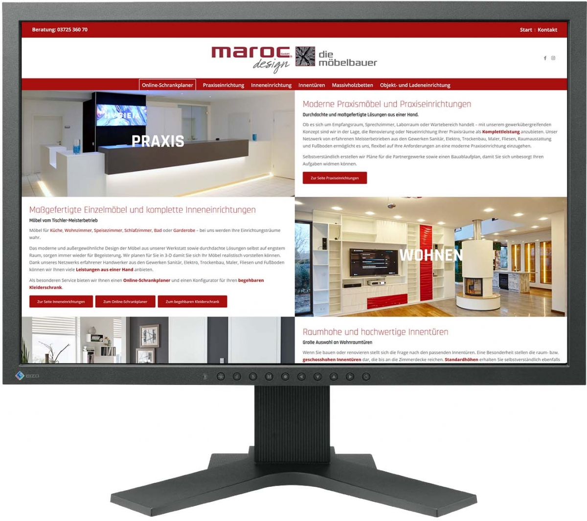 Website für marocdesign GmbH