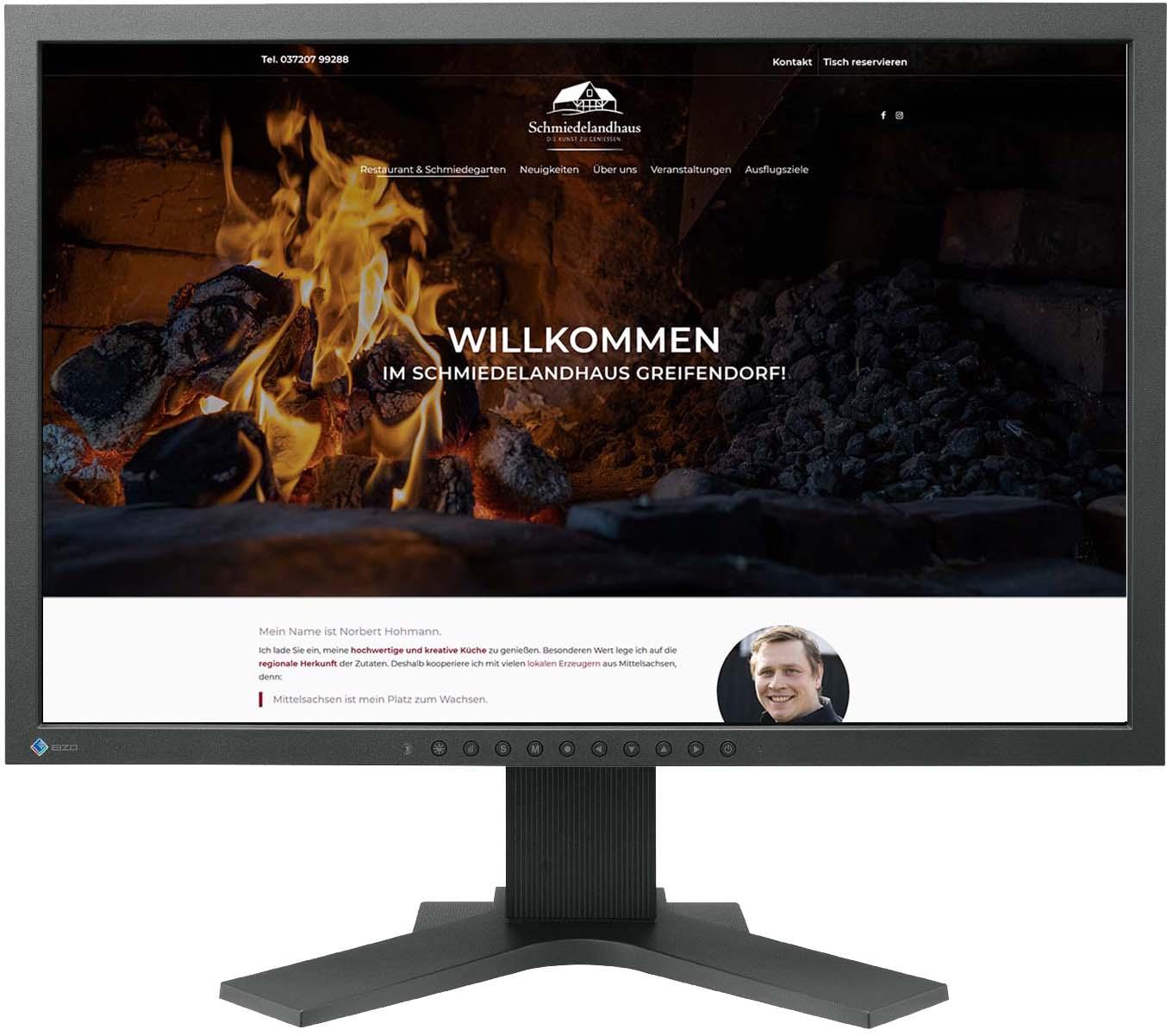 Website für Schmiedelandhaus Greifendorf